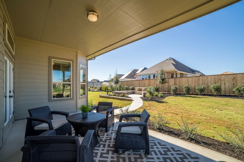 SaddleCreek | Georgetown New Homes  - Chesmar Homes | Model Home Back Patio