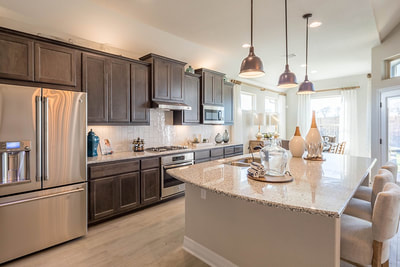 SaddleCreek | Chesmar Interior | Model Home - Contemporary Kitchen