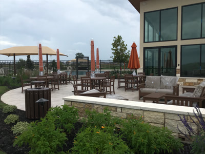 Amenity Center | Outdoor seating Area